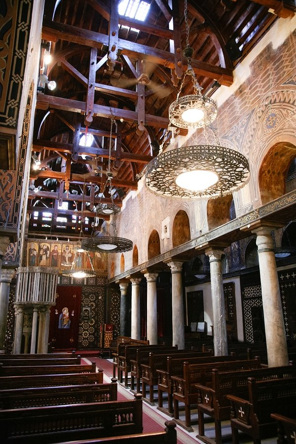 Interior of church Saint Mary El Muallaqa or Hanging Church