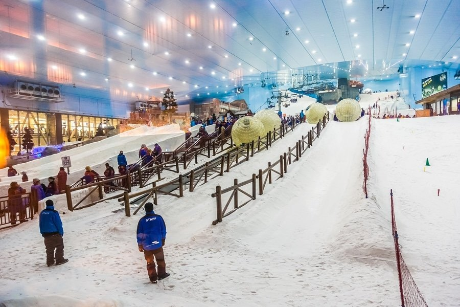 Dubai Skiii Is An Indoor Ski Resort With 22,500 Square Meters Of Ski Area, located in Mall of the Emirates, Dubai