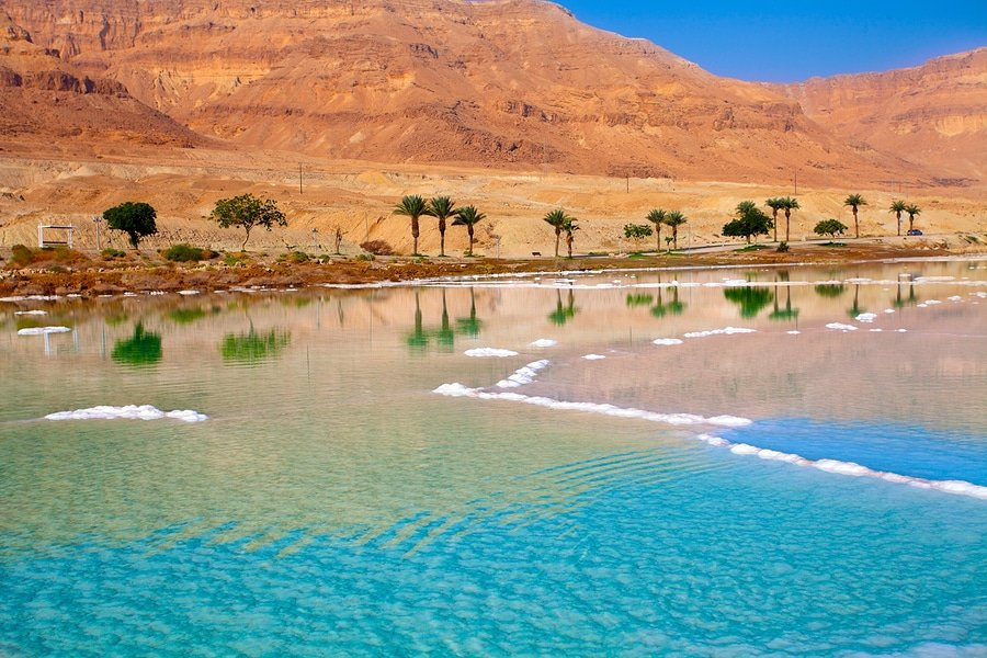 Jordan's coast of the Dead Sea