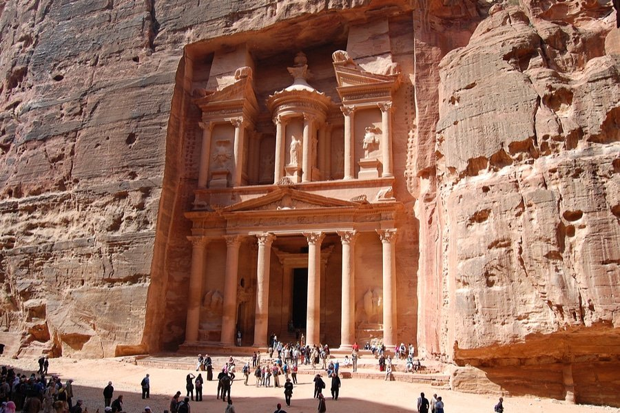 Treasury or Al Khazneh in Petra, Jordan