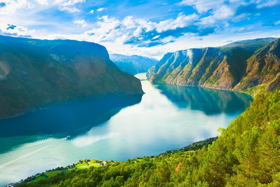 The Sognefjord or Sognefjorden is the largest and best known fjord in Norway and the second longest in the world