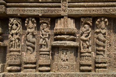 Details from the Sun Temple in Konark, India