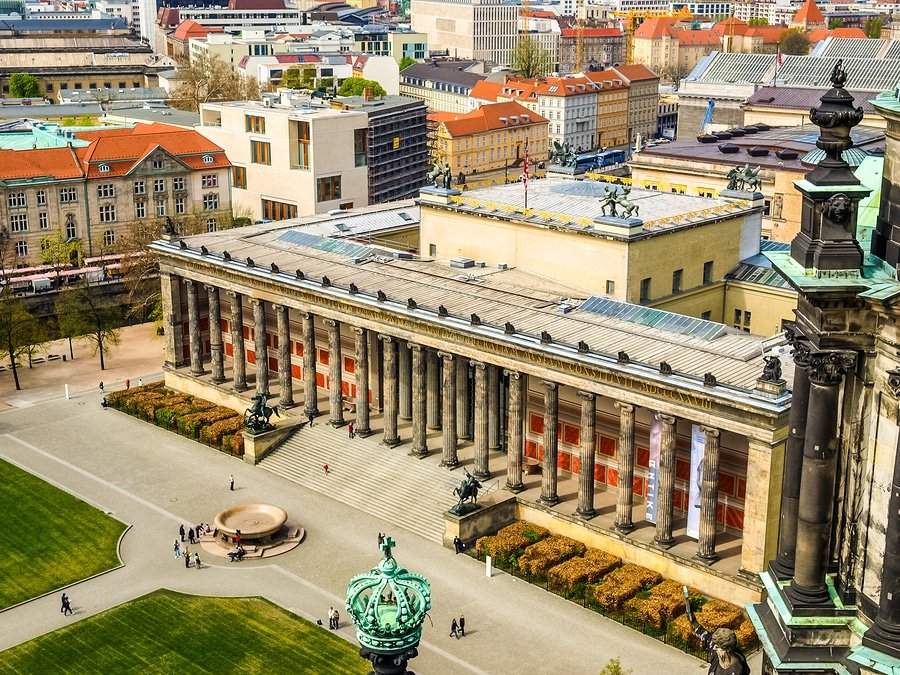 The Museumsinsel is a complex of five museums - Altes museum (Old museum) Neues museum (New museum) Alte Nationalgalerie (Old National Gallery) Bode museum Pergamon museum)