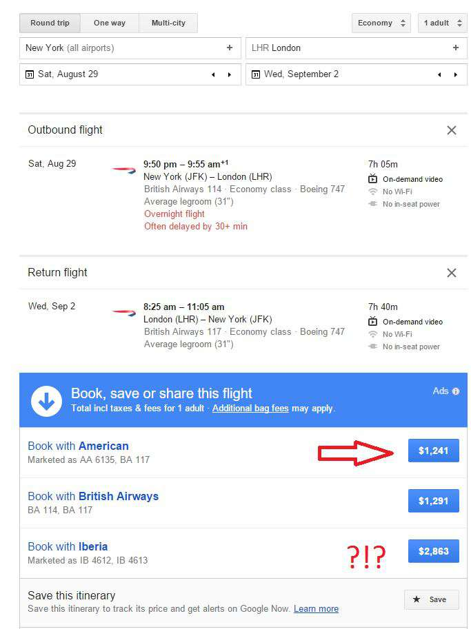 Best flight search options