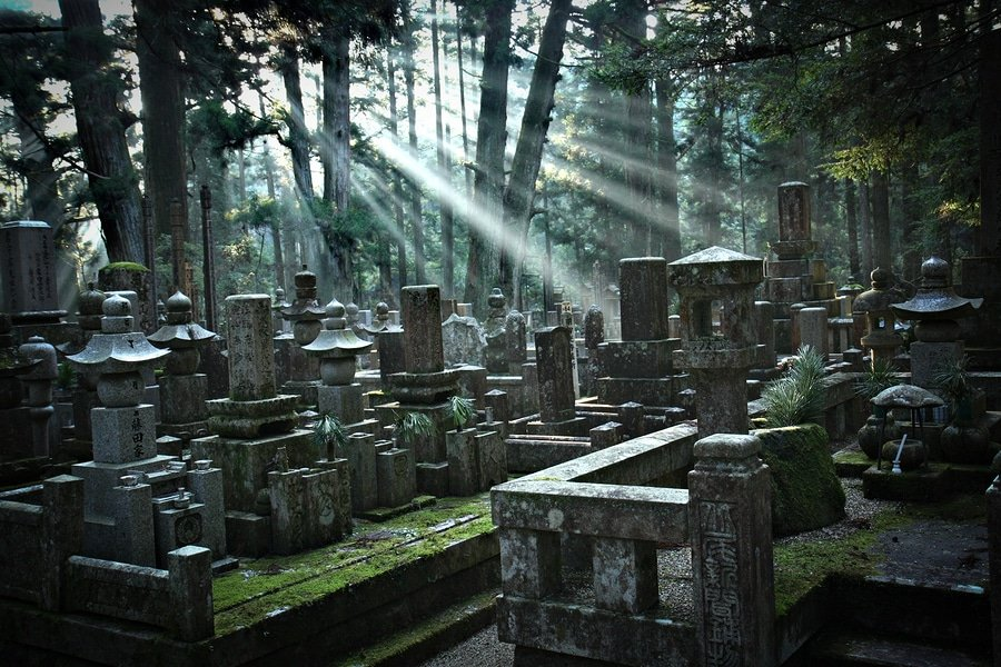 Okunoin Cemetery at Mount Koya, Japan