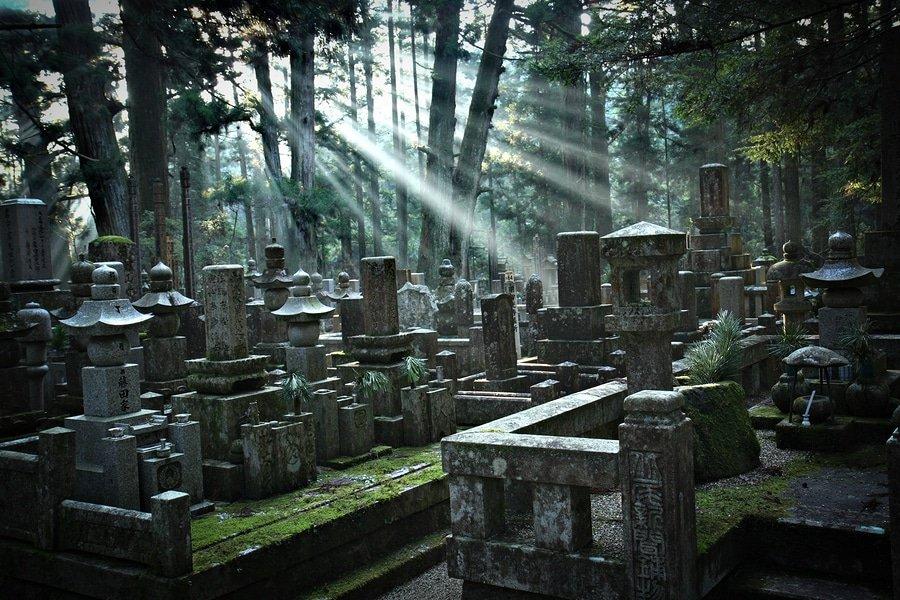 Okunoin Cemetery at Mount Koya, Japan