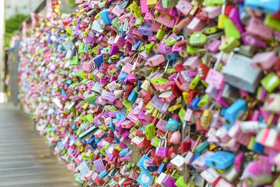Padlock at N Seoul Tower