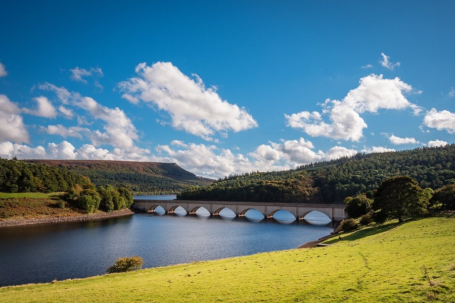 Ladybower Reservoir and Bamford Edge, is situated in the Upper Derwent Valley at the heart of the Peak District National Park