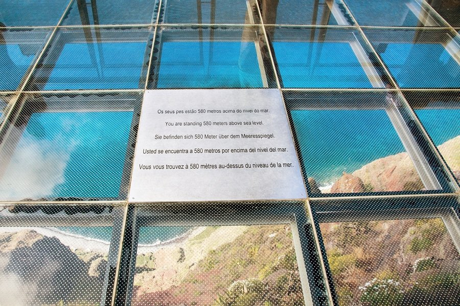 The skywalk at Cabo Girao is 580 meters (1903 ft) above the ocean