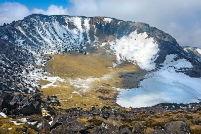 Hallasan mountain volcanic crater, Jeju island, South Korea