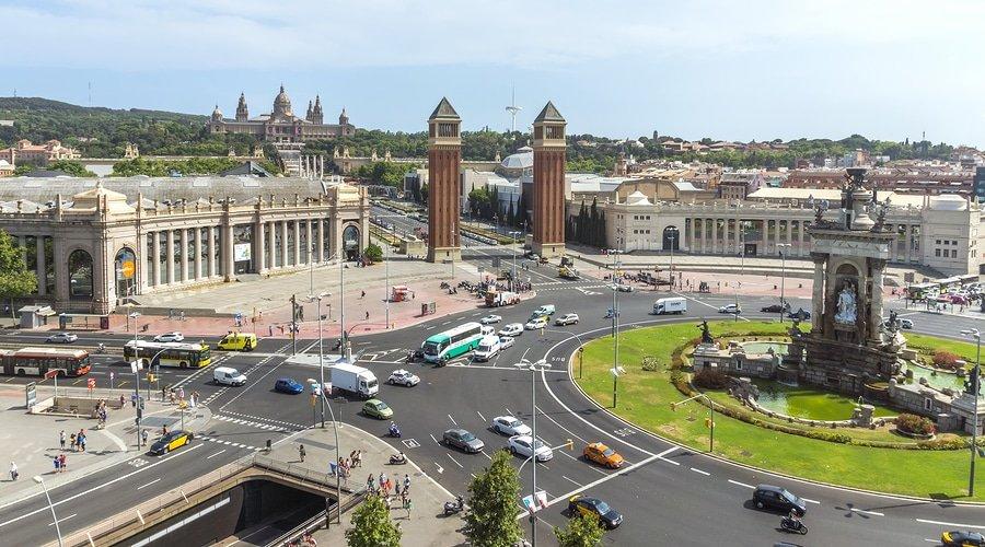 Placa De Espana, Barcelona, Spain