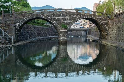Meganebashi (Spectacles Bridge) in Nagasaki, Japan