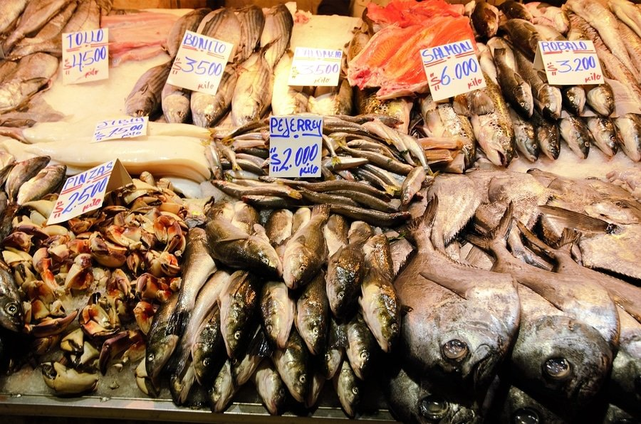 Seafood lovers' Paradise, Mercado Central, Santiago
