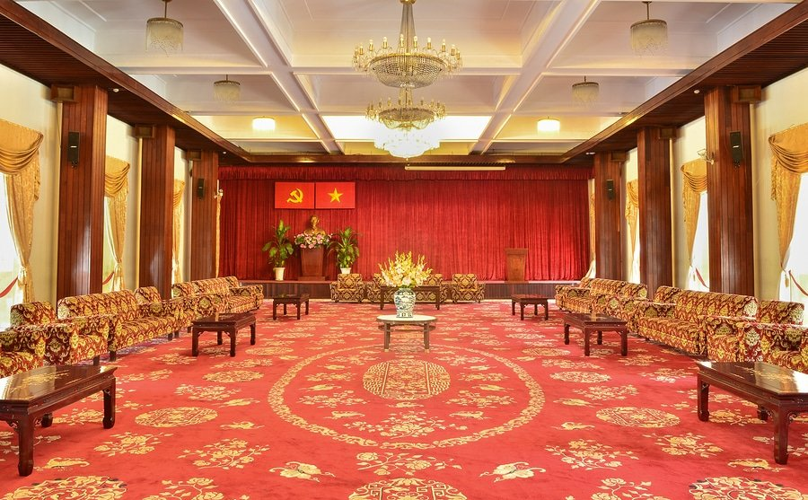 Little has changed since it was opened in 1966, Reunification Palace, Ho Chi Mnh City, Vietnam