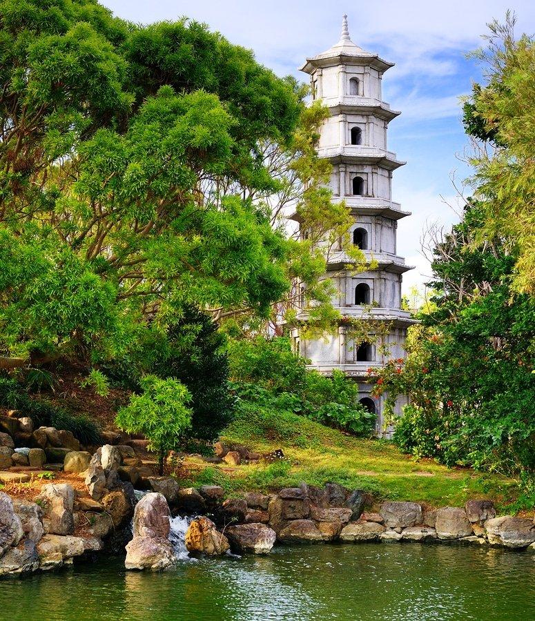Fukushen Garden in Naha, Okinawa, Japan