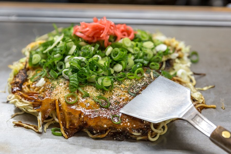Okonomiyaki, japanese pizza, Hiroshima style