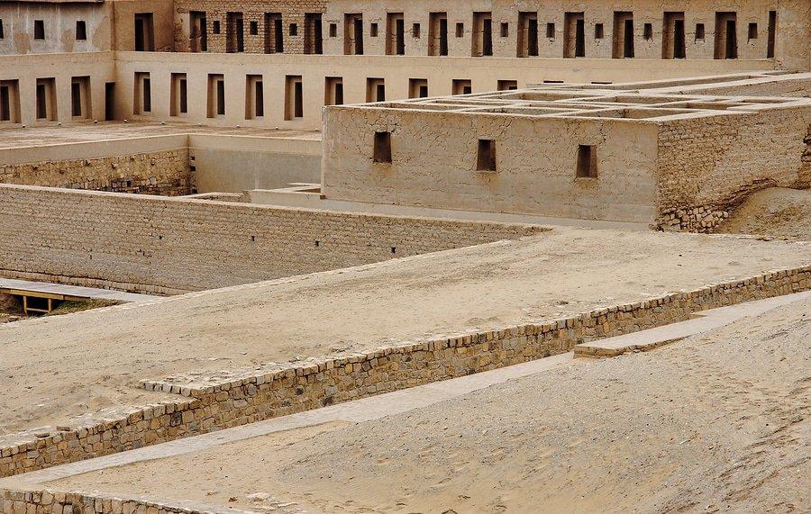 Pre-columbian Cultures Archaeological Site Of Pachacamac Near Lima, Peru