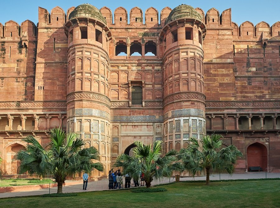 Red Fort Located In Agra, India