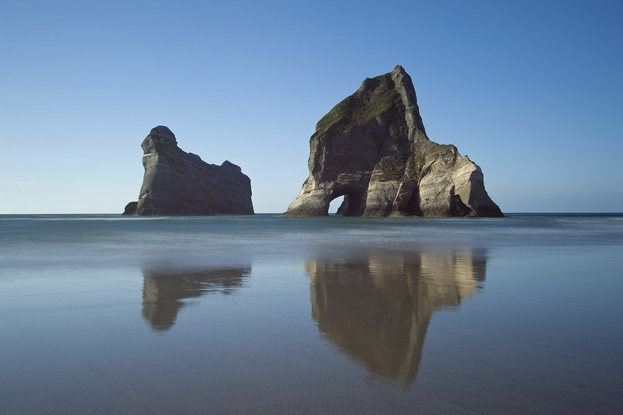 Archway Islands near Wharariki Beach, New Zealand