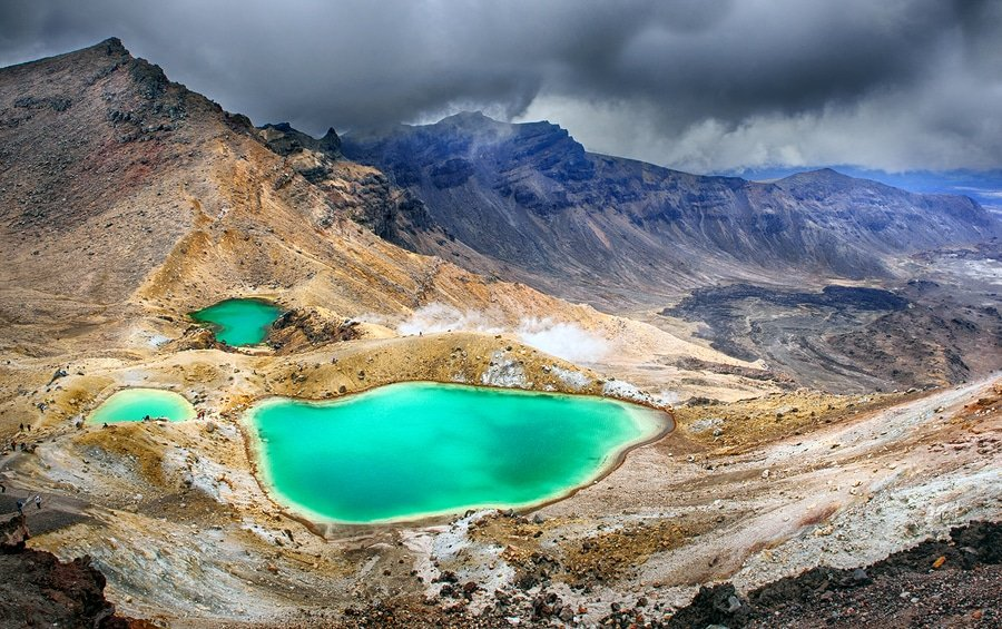 Tongariro National Park is the oldest national park in New Zealand (est. 1887), located in the central North Island. It has been acknowledged by UNESCO as one of the 28 mixed cultural and natural World Heritage Sites