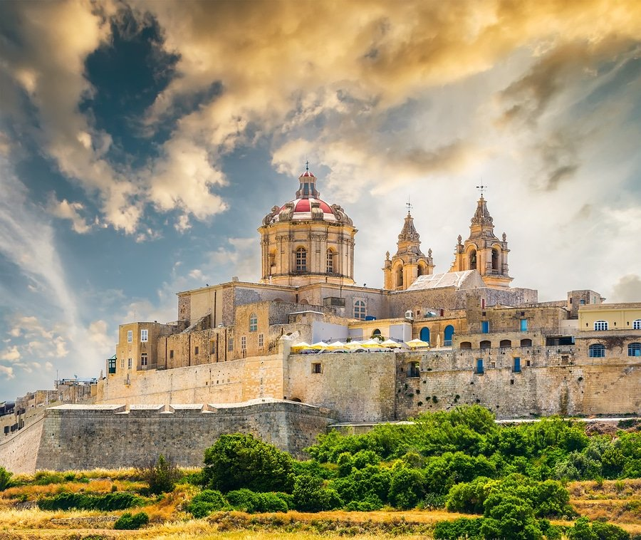 Mdina, also known by its titles Città Vecchia or Città Notabile, is a fortified city in the Northern Region of Malta, which served as the island's capital from antiquity to the medieval period