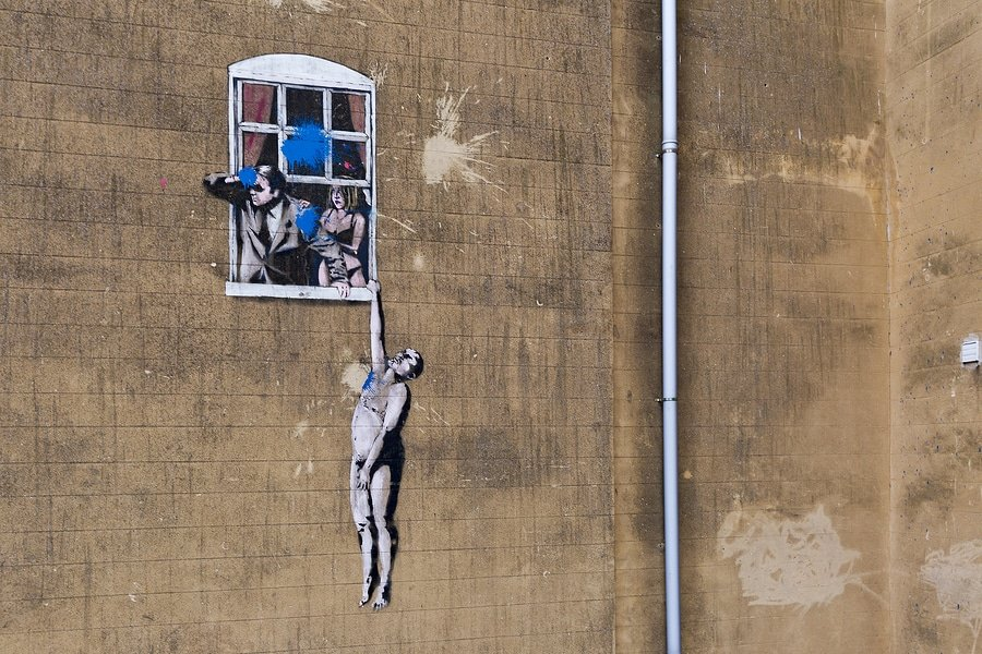 Banksy, The Wall Hanger, Bristol