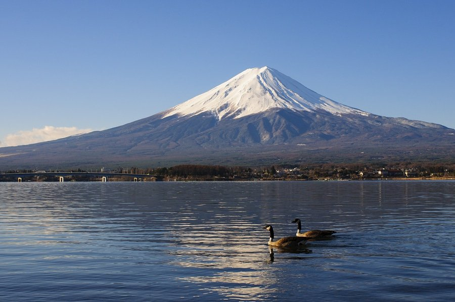 Mt Fuji View From Lake Kawaguchiko, Kanto region, Japan