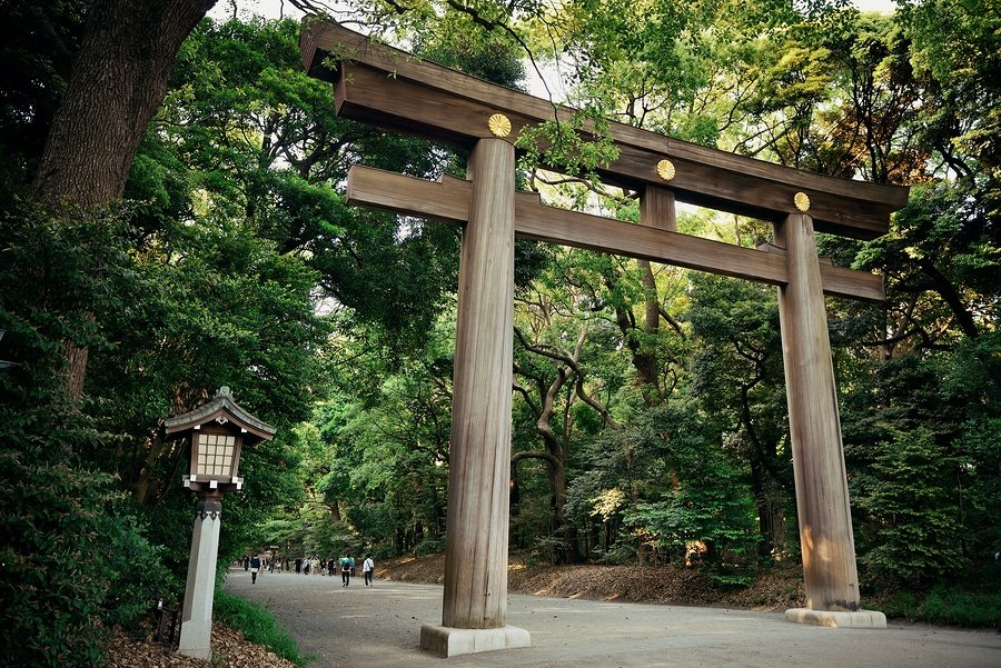 Portal of Meiji Jingu Shrine. Tokyo, Japan.