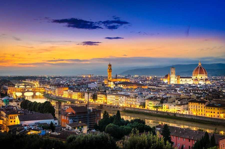 Magnificent view from Piazzale Michelangelo, Florence, Italy