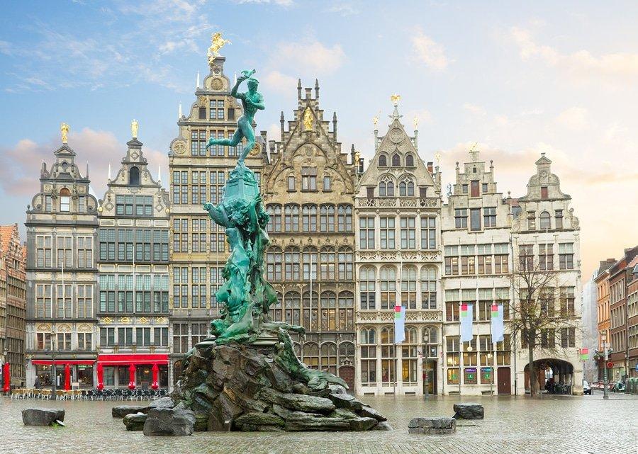 Brabo Fountain, Grote Markt square, Antwerp
