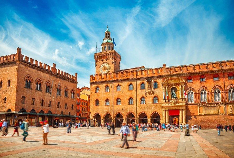 Piazza Maggiore in Bologna old town