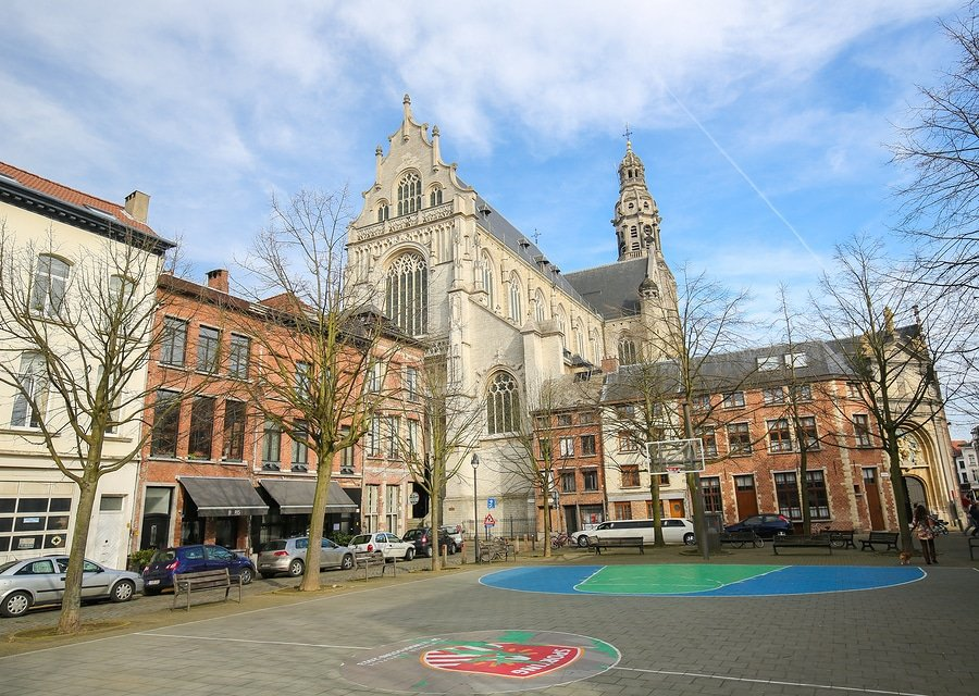 St. Paul's Church In The Center Of Antwerp, Belgium