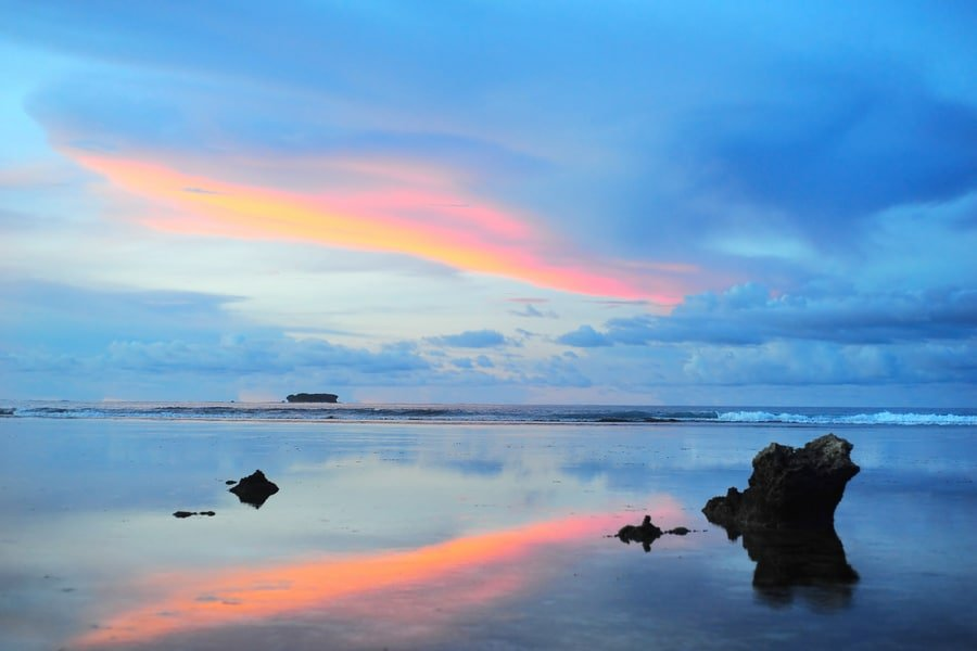 sunset at Cloud 9, Siargao island , Philippines