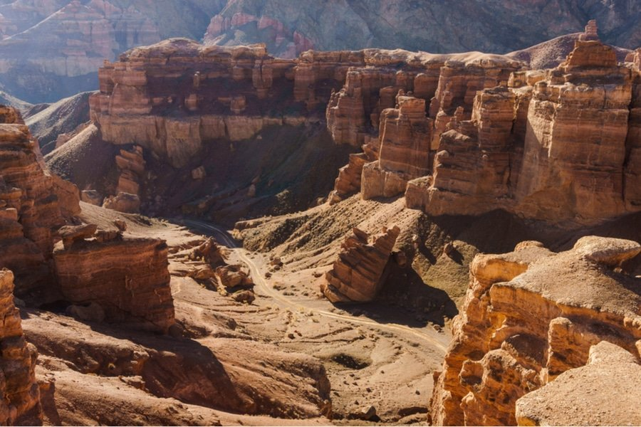 Charyn Canyon is much smaller than the Grand Canyon but it is equally impressive (Aureliy/Shutterstock.com)