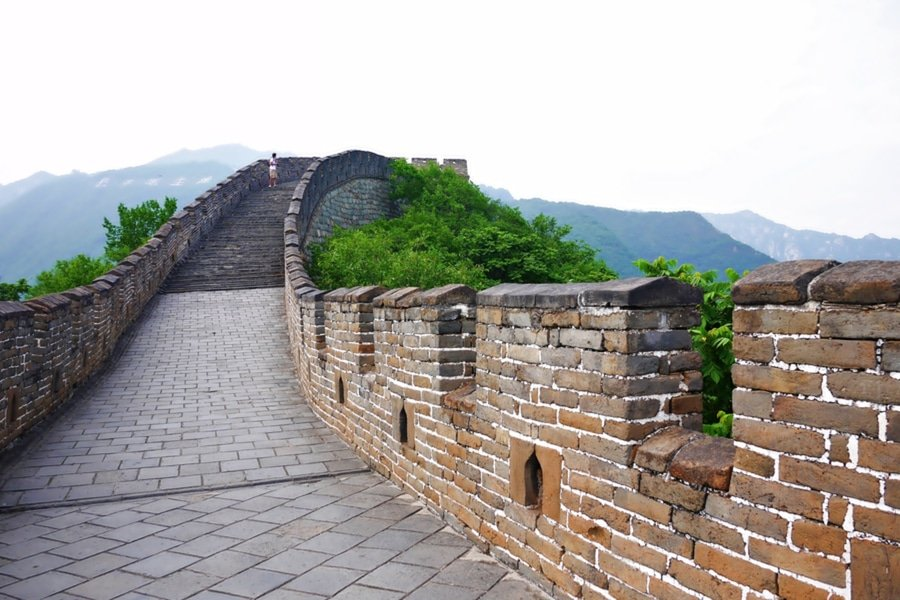 The Great Wall of China at Mutianyu section nears Beijing, China