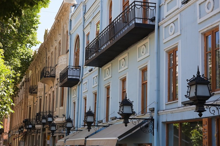Houses along Rustaveli Avenue in Tbilisi, Georgia (Ilia Torlin/Shutterstocl.com)