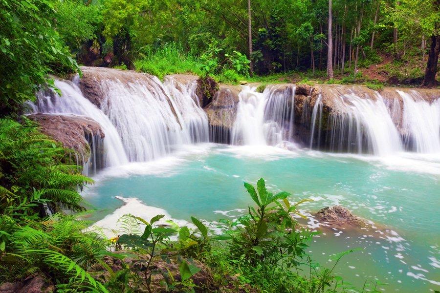Cambugahay Falls, Siquijor Island, Philippines
