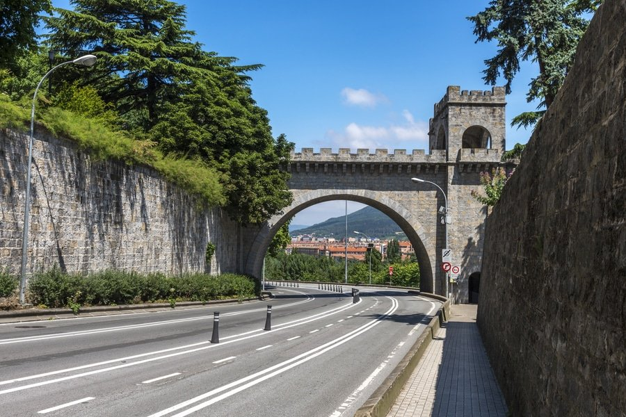 City wall and New Gate, Pamplona, Spain