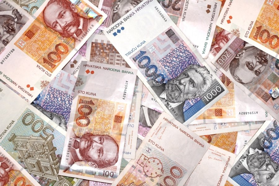 Croatian Kuna currency bills