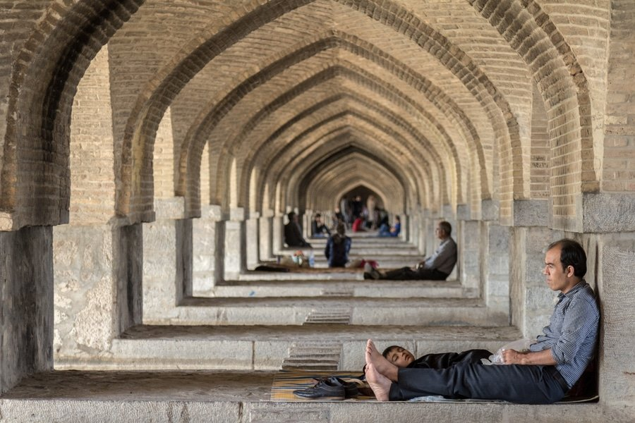 Khaju Bridge, Isfahan-Iran