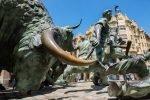 Pamplona Running of the Bulls Statue, Pamplona, Spain