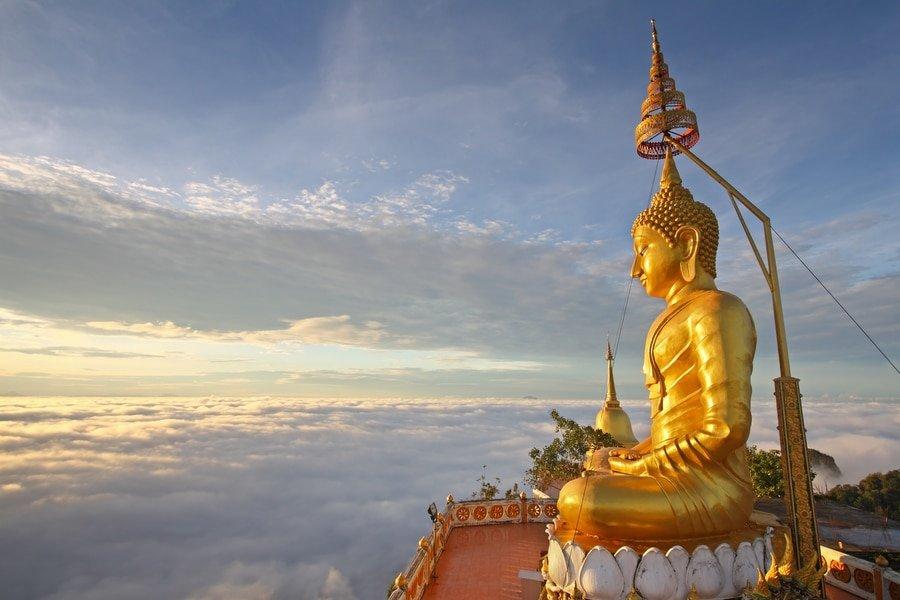 Statue of Buddha, Wat Tham Suea, Krabi, Thailand