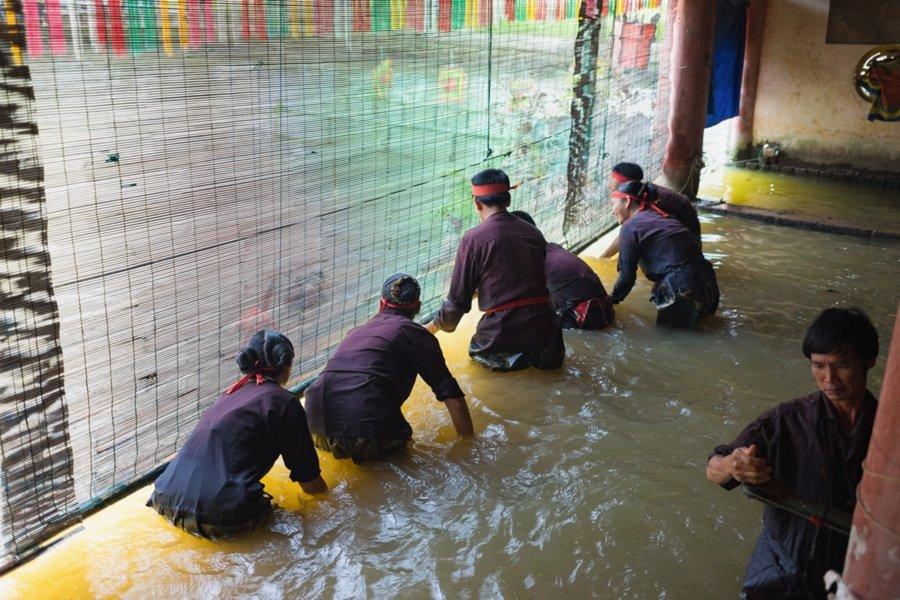 Water puppet show control, Hanoi, Vietnam