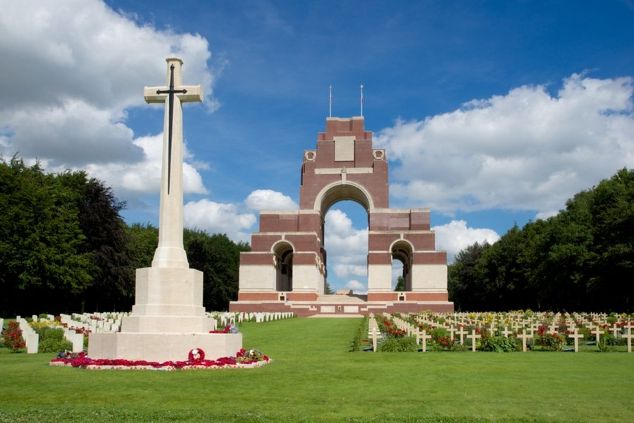 The cemetery and memorial of the Battle of the Somme