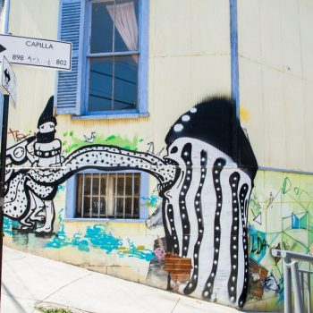 Street art in Concepcion and Alegre districts of the protected UNESCO World Heritage Site of Valparaiso (Anky / Shutterstock.com)