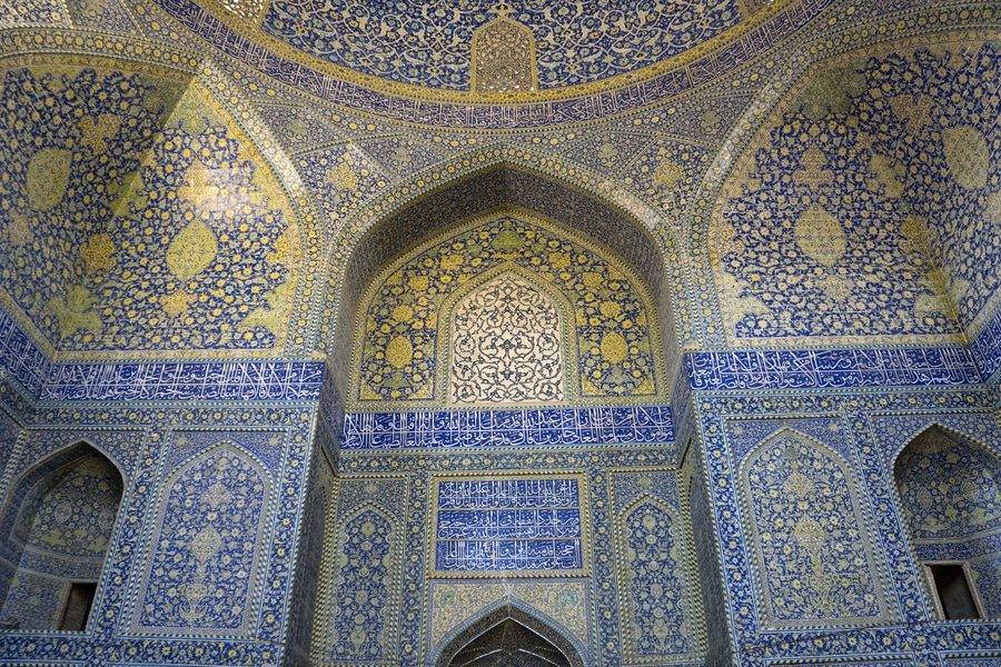 music hall at Ali Qapu Palace, Isfahan, Iran