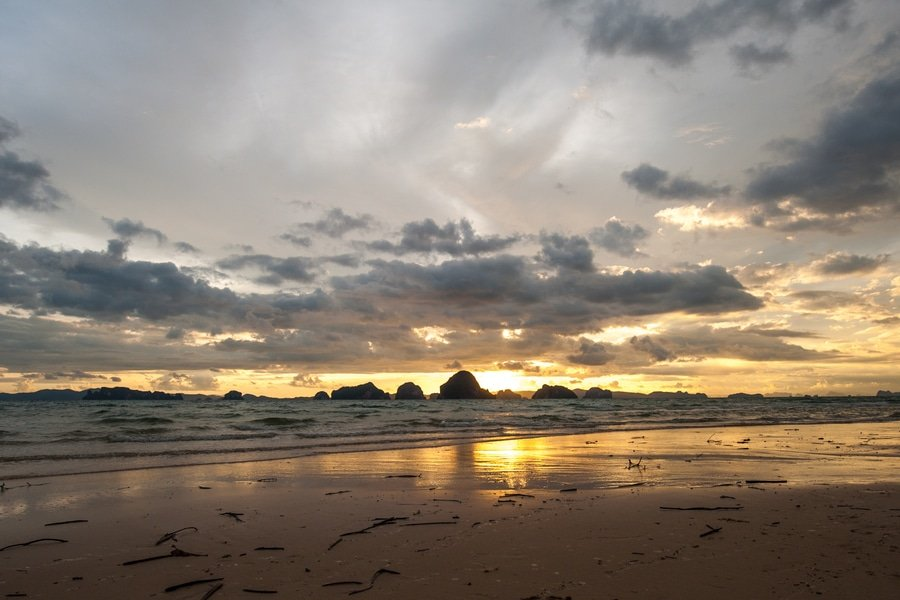 Sunset at Tubkaak Beach, Krabi, Thailand