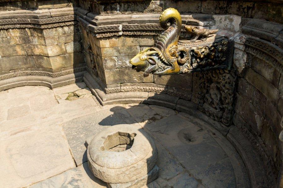 Water tap at Bhaktapur Drubar Square, Kathmandu, Nepal
