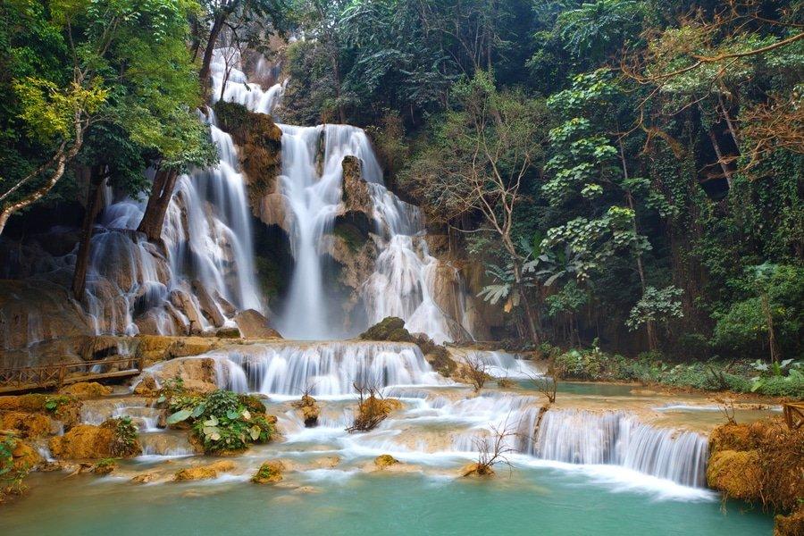 Kuang Si Falls in Luang Prabang Laos