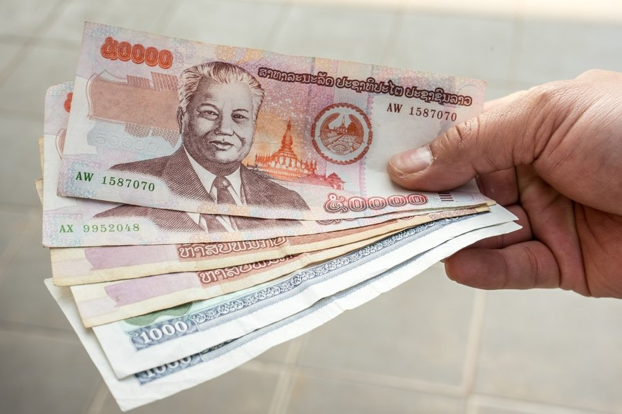 Lao Kip, the official currency of Laos
